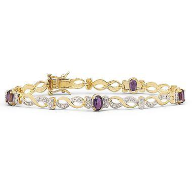 fashion jewelry silver amethyst bracelet jcpenney