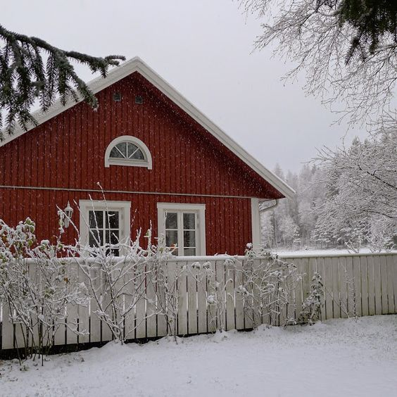 Mias Landliv: Finally... snow