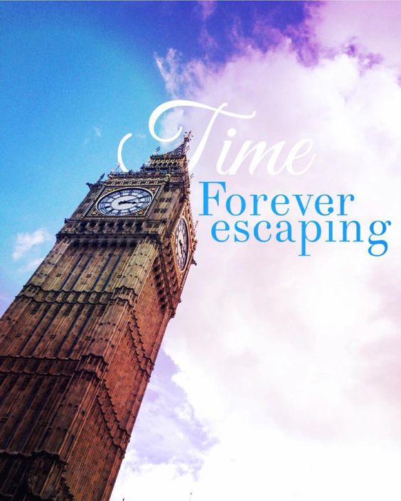 """Beautiful photograph and design by @meeesha - who uses #PicLabHD's eraser tool on the word """"time"""" to create depth."""
