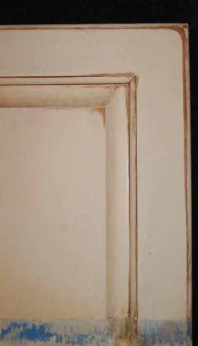 Cabinets glazed kitchen cabinets and oak cabinets on for Butter cream colored kitchen cabinets