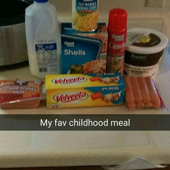 Fav childhood meal