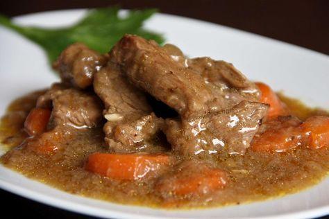 Carne En Salsa Con Thermomix Receta Receta Carne En Salsa Recetas Con Carne Salsas Para Carnes