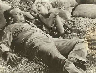 """BARBARA NICHOLS & ALDO RAY in """"The Naked and the Dead"""" Original Vintage 1958"""