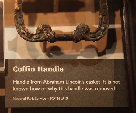 Lincoln coffin handle - Abraham Lincoln Assassination Museum - Peterson House - 2012-05-20