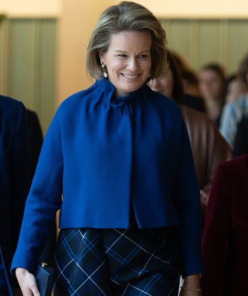 Hollywood Christmas School 2020 Queen Mathilde attended an event of Antwerp Management School in