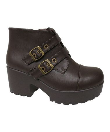 Love this Brown Double-Buckle Hayden Boot on #zulily! #zulilyfinds