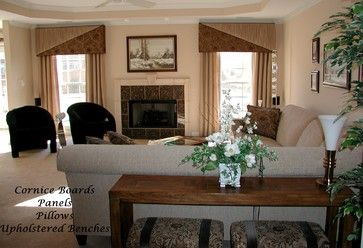 Cornice Boards - living room - other metro - The Interiors Workroom, Inc