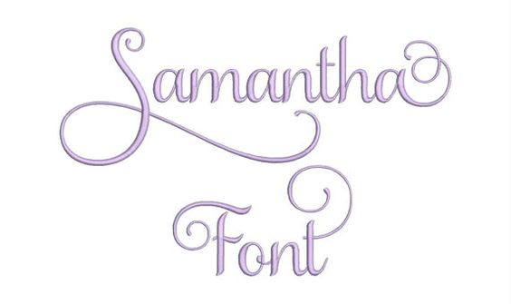 Samantha Set 1 Machine Embroidery Designs 3 Size by moreusemb