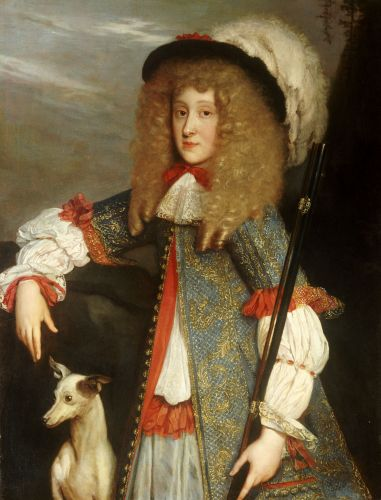 Portrait of A young gentleman in hunting attire by Louis Ferdinand Elle,c. 1660s-70s: