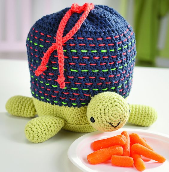 Turtle Lunch Bag :) Pattern in