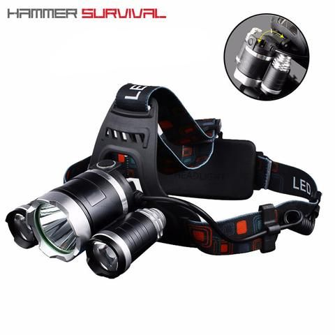 Hs 3x 3 Led 10 000 Lumen Tactical Headlamp Headlamp Tactical Night Vision Monocular