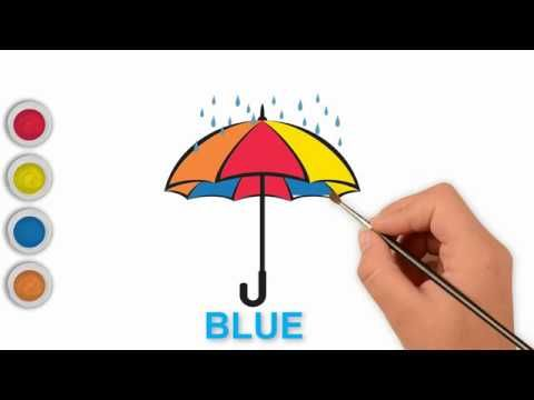 Umbrella Coloring Page Learn Colors Kids Umbrella Coloring Page Coloring Pages Coloring Pages For Kids