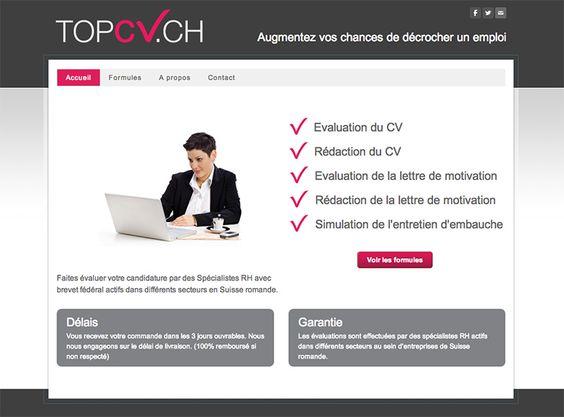 Service d'évaluation et de rédaction de CV et lettre de motivation. Simulation d'entretien d'embauche. http://www.topcv.ch/