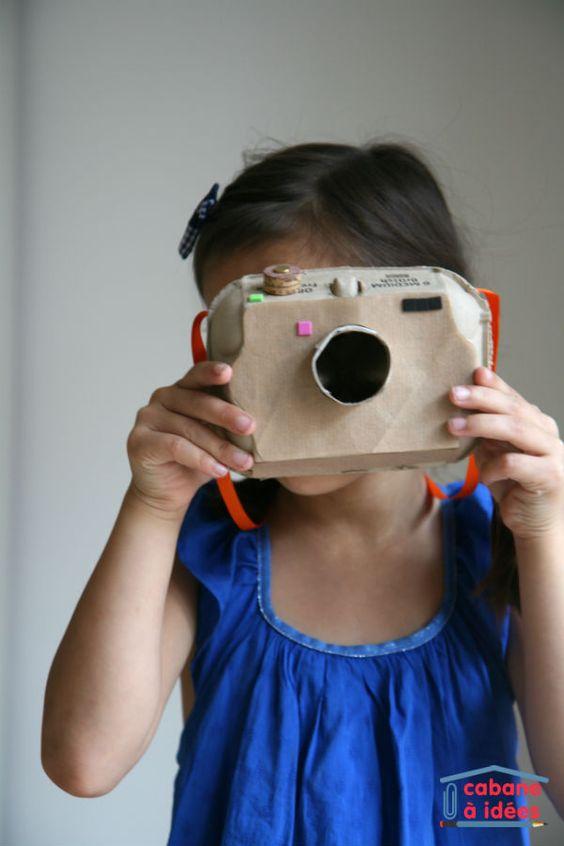 Un appareil photo à partir d'une boite d'oeufs