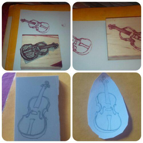 Violin carved by Julie Fetiveau