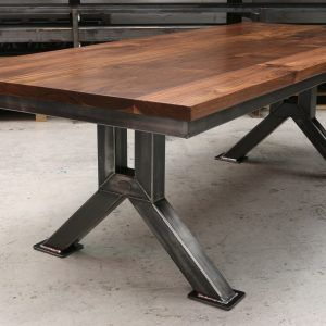 The Engineering Table Industrial Style Dining Table Steel