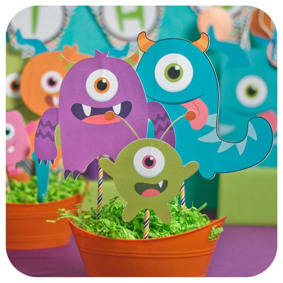 Little Monsters Little Monsters Party Monster by KraftsbyKaleigh
