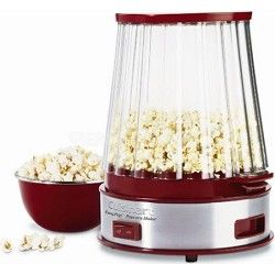 Cuisinart EasyPop Pocorn Maker will pop up to 10 cups in under 5 minutes. enjoy popcorn - plain, buttered, tangy, cheesy or caramel - any time.