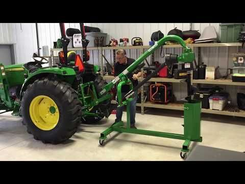 Post Hole Digger Stand Youtube Tractor Accessories Farm Equipment Storage Small Garden Tractor