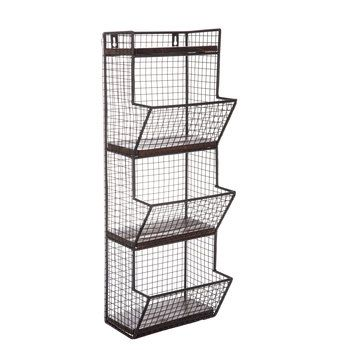 Black Three Tiered Metal Wall Basket Hobby Lobby 1458306 Baskets On Wall Metal Wall Basket Wire Wall Basket