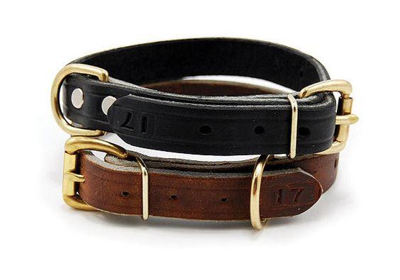 3/4 Inch Wide Leather Dog Collar  Black or Brown by Leerburg, $14.00