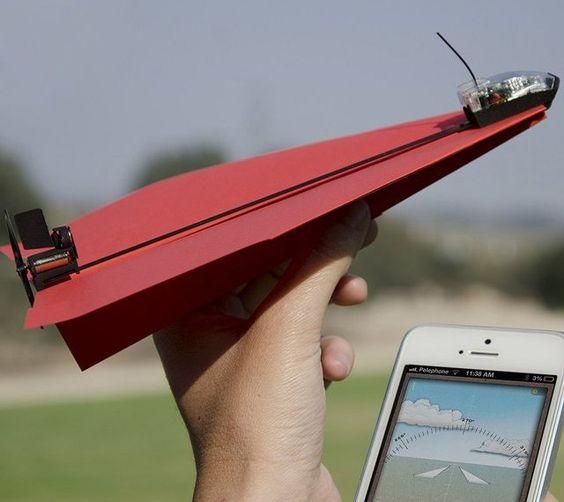 スマホで紙飛行機をコントロールするガジェット「PowerUp 3.0 Smartphone Controlled Paper Airplane」   Q ration(キューレーション)   QUAEL bags   クアエル