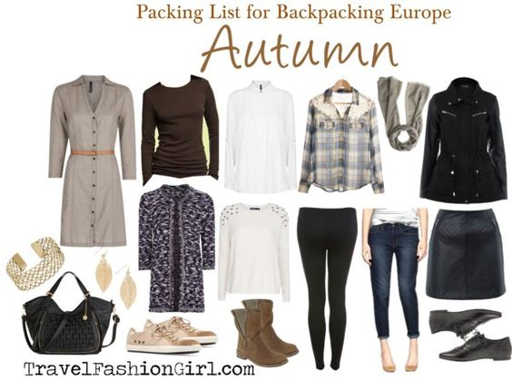 Backpacking Through Europe In Autumn Packing List For