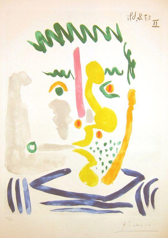 Pablo Picasso, FUMEUR, 1964.