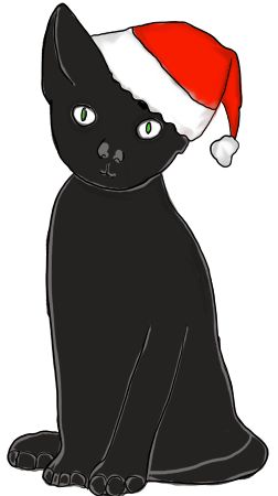 Christmas Cat Clip Art – Clipart Free Download