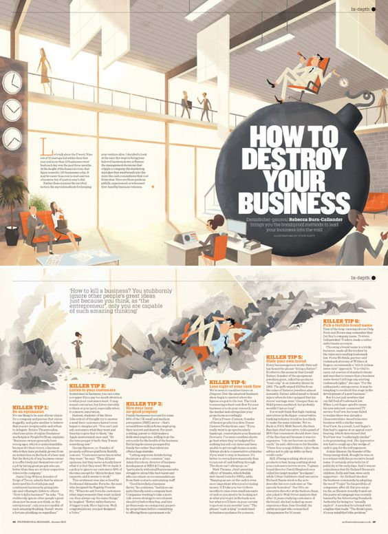 good example how to integrated illustration on editorial design