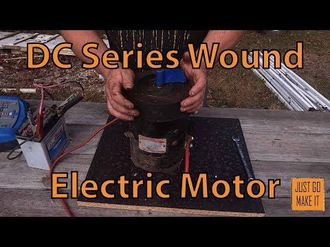 Dc Series Wound Motor Wiring And Reversing Youtube Wind Motor Electric Motor