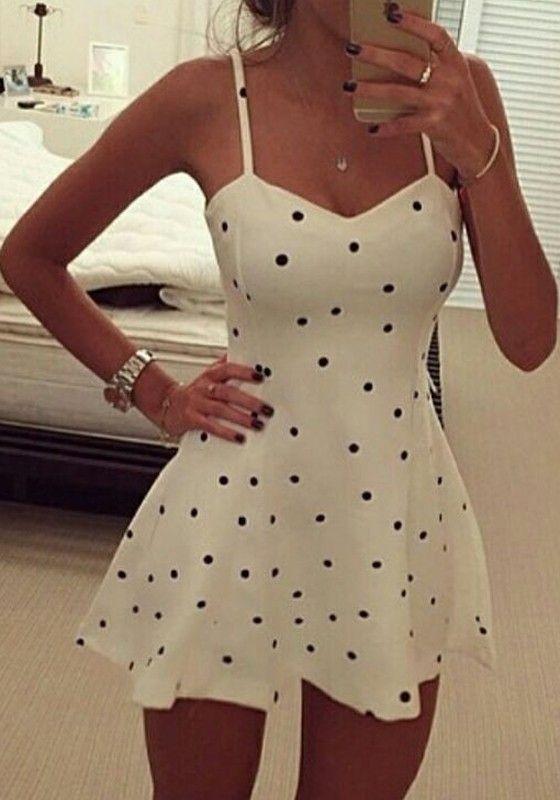 White Polka Dot Ruffle Condole Belt Dress Absolutely beautiful: