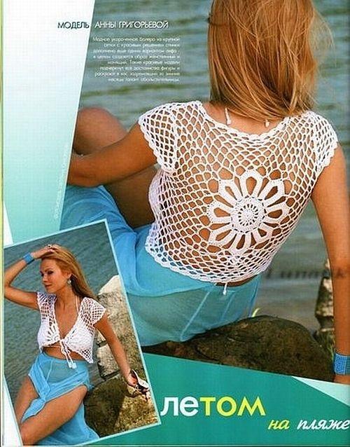 Летние женские топы- вязание,схемы и просто для вдохновения. Обсуждение на LiveInternet - Российский Сервис Онлайн-Дневников