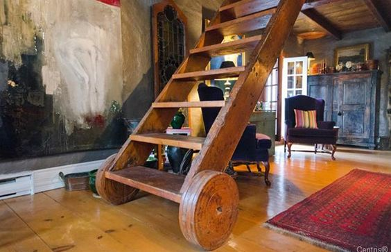 A novel way to build movable stairs/ladders.