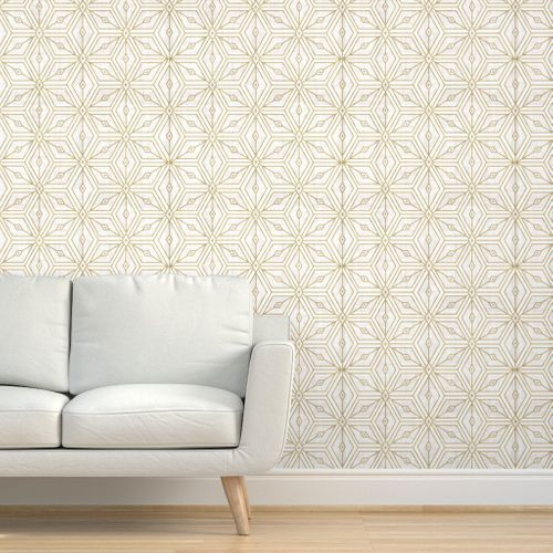 Colorful Fabrics Digitally Printed By Spoonflower Mod Star White Gold In 2020 White And Gold Wallpaper Gold Accent Wallpaper Peal And Stick Wallpaper