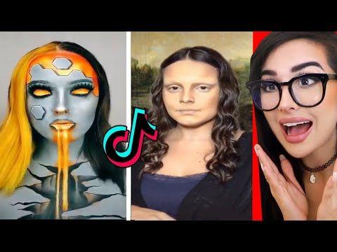 Crazy Makeup Transformations On Tik Tok Youtube Crazy Makeup Makeup Transformation Makeup