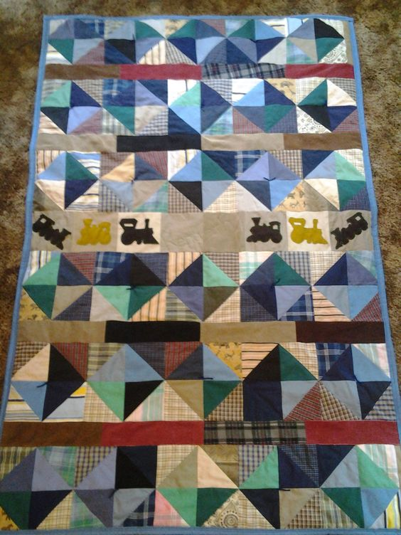 A boys crib size quilt, which i sold.