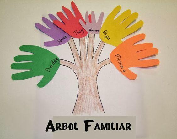 Manualidades arbol familiar actividades para ni os - Actividades para ninos pequenos ...
