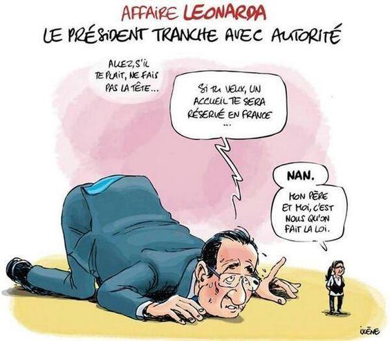 #Hollande face à #Leonarda, par #Ixène