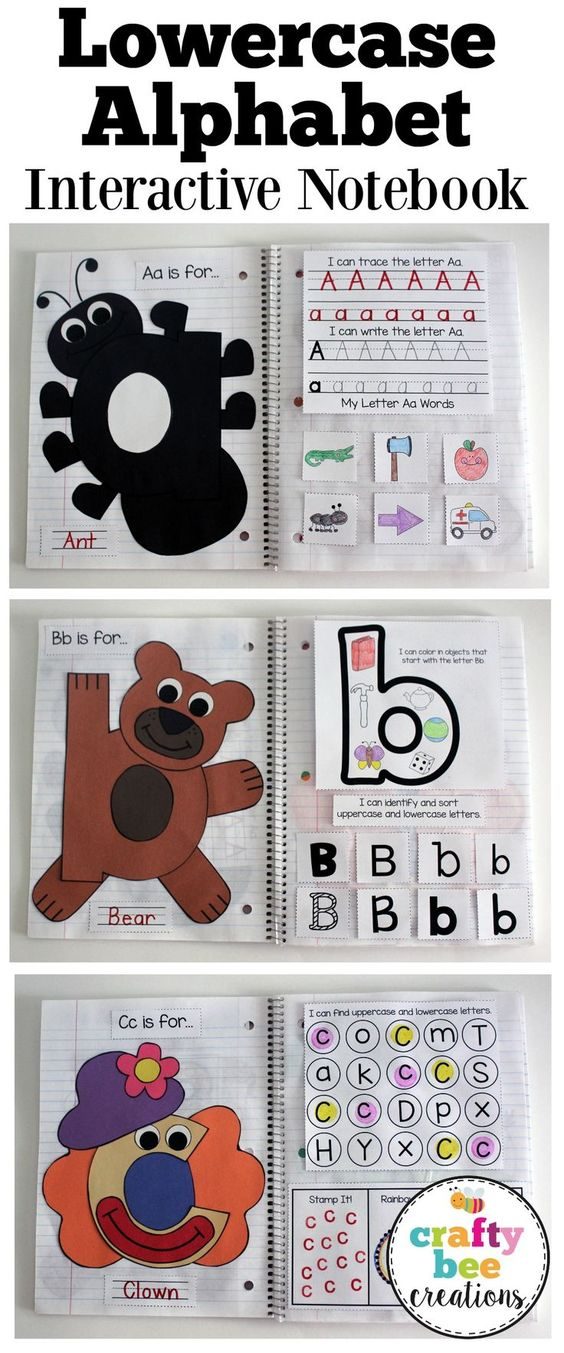 The lowercase interactive alphabet notebook is here great for Alphabet letter notebook