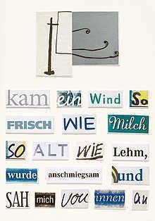 Herta Müller: Kam ein Wind.  Wunderbare Collage!