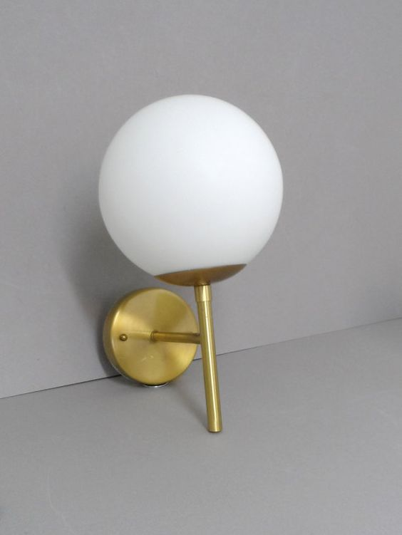 Mid Century Modern Orb Floating Wall Sconce Modern The