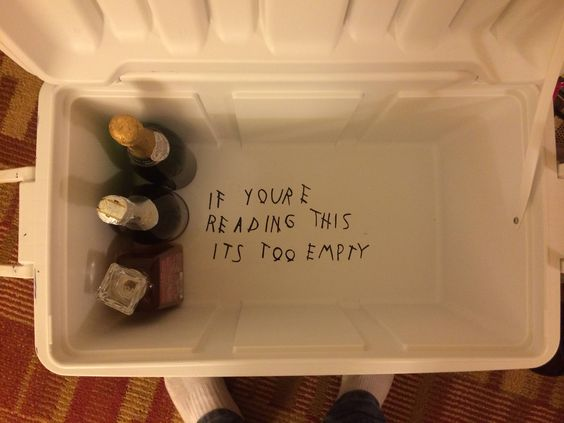 So my date for our fraternity's formal had an awesome idea for the bottom of my cooler... I just had to share it with my fellow HHH.