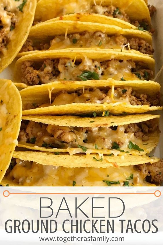 Baked Ground Chicken Tacos