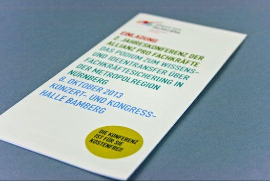 Flyer für die Metropolregion Nürnberg