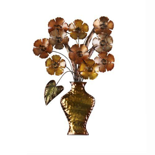 Elements Flower Vase Metal Wall Decor By Elements 29 99 Bronze