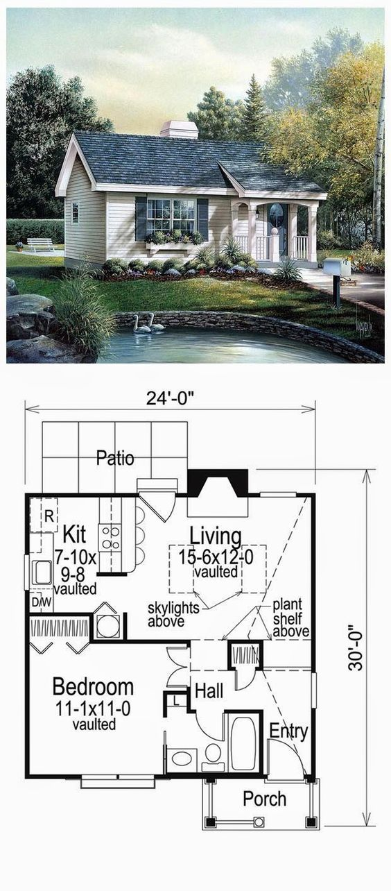 Cabin Colonial Cottage Country Ranch House Plan   Tiny House    Cottage Plans Small  Small Guest House Plans  Small House Floor Plans  Small House Plans One Story  Guest Cottage Plans  Pool House Plans  Tiny House Plans