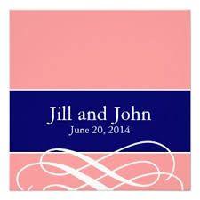 navy blue wedding invitations modern - Google Search