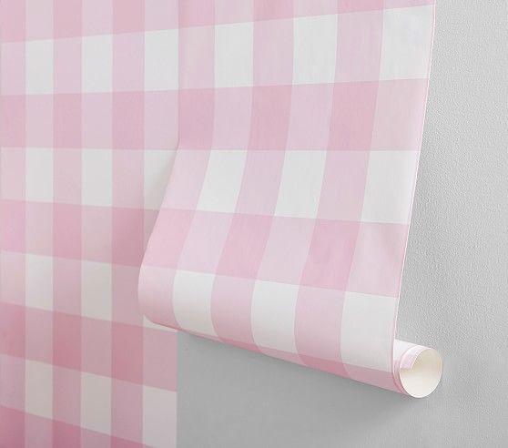 Buffalo Check Peel Stick Wallpaper Peel And Stick Wallpaper Wallpaper Pink Paint