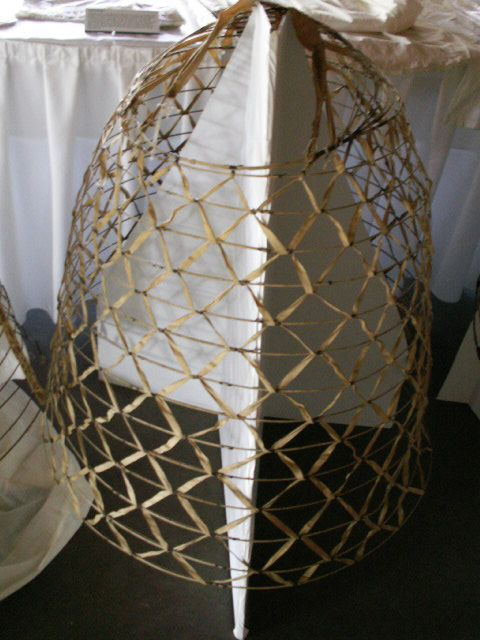 cage crinoline made from wire and  cotton tape